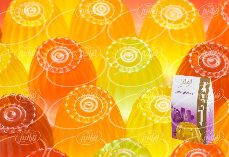 صادرات پودر ژله زعفران فرمند به عراق