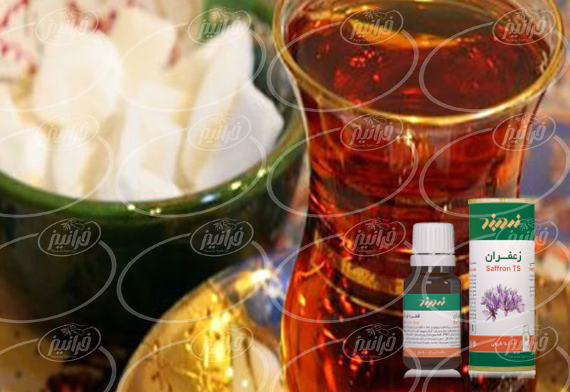 خریداری دمنوش زعفران دربند بسته بندی